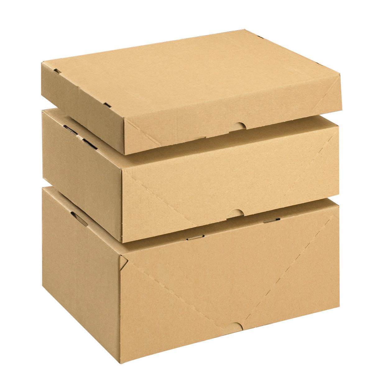 Stülpdeckelkarton in verschiedenen Größen